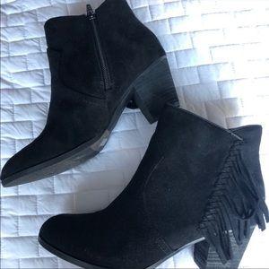 LF Black fringe booties